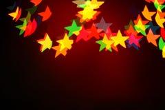 Bożonarodzeniowe światła girlanda, tło Zdjęcie Royalty Free