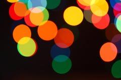Bożonarodzeniowe światła girlanda, tło Zdjęcia Royalty Free