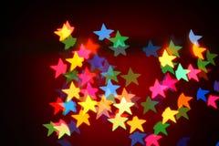 Bożonarodzeniowe światła girlanda, tło Fotografia Stock