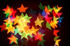 Bożonarodzeniowe światła girlanda, tło Zdjęcie Stock