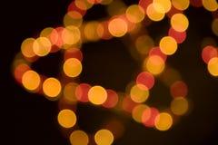 bożonarodzeniowe światła gwiazda Fotografia Royalty Free