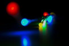 Bożonarodzeniowe Światła i kolory zdjęcie stock