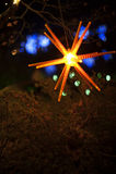 Bożonarodzeniowe światła i ornament Obrazy Royalty Free