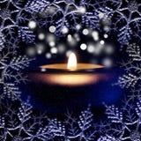 Bożonarodzeniowe światła i płatki śniegu Obrazy Stock