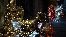 Bożonarodzeniowe światła jako phantasmagorical atmosfera FDV zbiory wideo