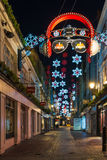 Bożonarodzeniowe światła na Carnaby ulicie, Londyn UK Zdjęcia Royalty Free