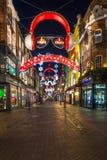 Bożonarodzeniowe światła na Carnaby ulicie, Londyn UK Obraz Stock