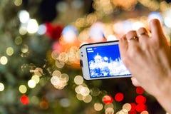 Bożonarodzeniowe światła na kamerze Obraz Royalty Free