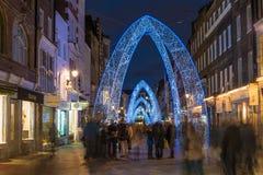 Bożonarodzeniowe światła na Południowej Molton ulicie w Mayfair, Londyn Obraz Stock