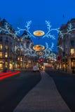Bożonarodzeniowe światła na Regent ulicie, Londyn, UK Zdjęcie Stock
