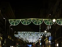 Bożonarodzeniowe światła na ulicie Obraz Stock