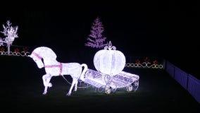 Bożonarodzeniowe Światła przedstawienie fotografia stock