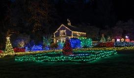 Bożonarodzeniowe Światła przy brzeg akrami fotografia royalty free