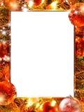 Bożonarodzeniowe światła rama Obrazy Stock