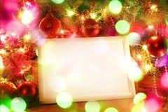 Bożonarodzeniowe światła rama obraz royalty free