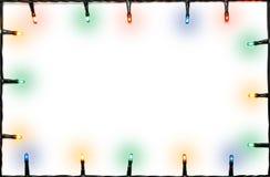Bożonarodzeniowe światła rama zdjęcie stock