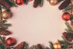 Bożonarodzeniowe światła tło Zdjęcia Royalty Free