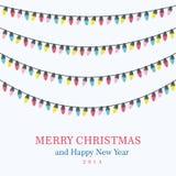 Bożonarodzeniowe światła tło Zdjęcia Stock