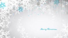 Bożonarodzeniowe światła tło z białymi płatkami śniegu Zdjęcie Royalty Free