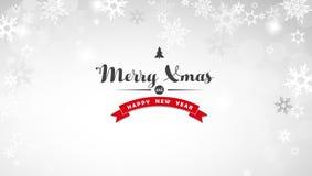 Bożonarodzeniowe światła tło z białymi płatkami śniegu Zdjęcia Stock