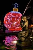 Bożonarodzeniowe światła w Lisbon Zdjęcie Royalty Free