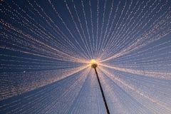Bożonarodzeniowe światła w mieście Zdjęcie Royalty Free