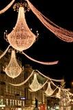 Bożonarodzeniowe światła, Wiedeń bożych narodzeń rynek Obraz Royalty Free