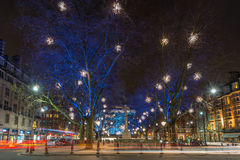 Bożonarodzeniowe Światła Wystawiają w Chelsea, Londyn, UK Obraz Royalty Free
