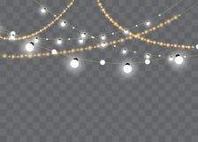 Bożonarodzeniowe Światła Xmas i nowego roku kartki z pozdrowieniami elemets również zwrócić corel ilustracji wektora ilustracja wektor