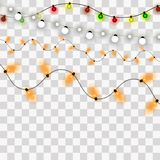 Bożonarodzeniowe Światła Xmas i nowego roku kartki z pozdrowieniami elemets również zwrócić corel ilustracji wektora royalty ilustracja