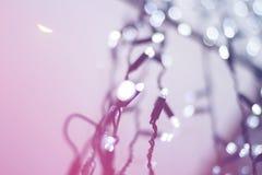 Bożonarodzeniowe światła zamazany tło z bokeh obrazy royalty free