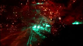 Bożonarodzeniowe światła zamykają up zbiory wideo
