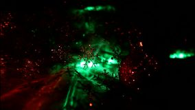 Bożonarodzeniowe światła zamykają up zdjęcie wideo