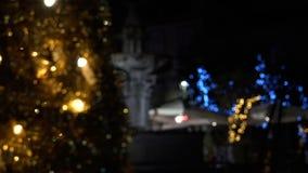 Bożonarodzeniowe światła zawsze oferują phantasmagorical atmosferę FDV zdjęcie wideo