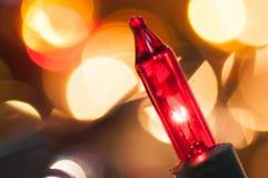 Bożonarodzeniowe Światła zbliżenie Fotografia Stock