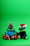 bożych narodzeń żaby prezentów życie wciąż Obraz Royalty Free