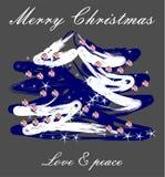 Bożych Narodzeń życzenia i ręcznie robiony choinka ilustracja wektor
