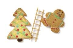 bożych narodzeń ciastek gingerbead Obrazy Royalty Free
