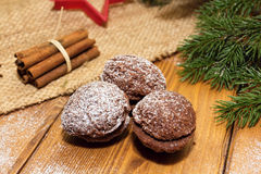 bożych narodzeń ciastek miodownik zrobił pałac cukierkom Zdjęcie Stock