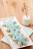 bożych narodzeń ciastek mleko Zdjęcie Royalty Free