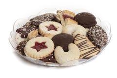 bożych narodzeń ciastek talerz Obraz Stock