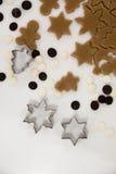 bożych narodzeń ciastek znaleziska wizerunki patrzeją więcej mój portfolio ten sam serie Piec Promocja ciasto ciąć gwiazdy na dre Zdjęcie Royalty Free