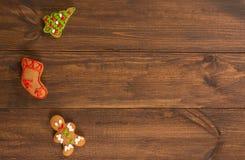 bożych narodzeń ciastek znaleziska wizerunki patrzeją więcej mój portfolio ten sam serie układów scalonych ciastka na nieociosany Obraz Stock
