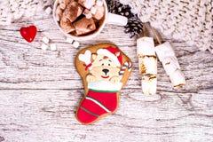 bożych narodzeń ciastek znaleziska wizerunki patrzeją więcej mój portfolio ten sam serie Z świąteczną dekoracją bożenarodzeniowi  Zdjęcia Stock