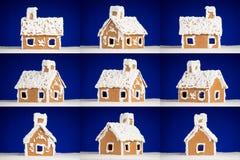 bożych narodzeń ciastka piernikowego domu śnieg Zdjęcia Royalty Free