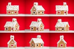 bożych narodzeń ciastka piernikowego domu śnieg Fotografia Stock