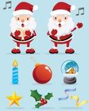 bożych narodzeń Claus dekoraci ikona uroczy Santa Ilustracja Wektor