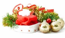 bożych narodzeń Claus kapelusz ornamentuje Santa Zdjęcia Royalty Free