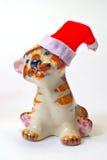 bożych narodzeń Claus kapeluszowy Santa tygrys Obrazy Royalty Free