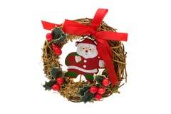 bożych narodzeń Claus Santa wianek Obrazy Royalty Free